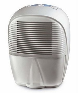 Small And Portable Dehumidifier In All White Finish