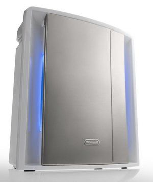 Silent Procedure Purifier In Silver Finish With Blue Light