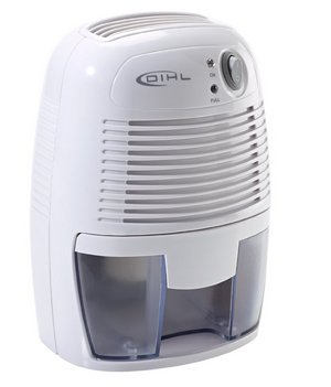 Mini Fashionable Small Air Dehumidifier In White Showing Controls