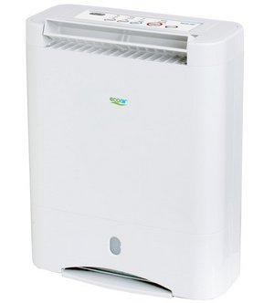 Portable Dehumidifier In White With Controls On Top