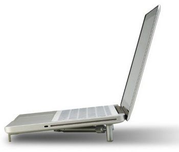 Ergonomic Notebook Cooling Stand For Laptops In Silver
