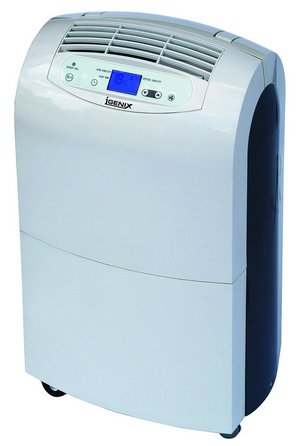 Rotary Compressor Dehumidifier In White And Dark Blue Sides