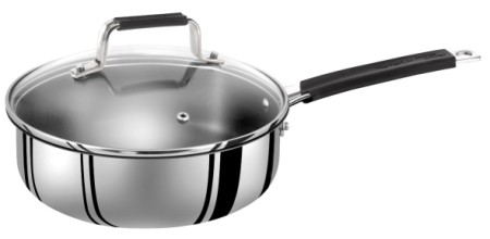 Saute Pan With Lid And Black Handle