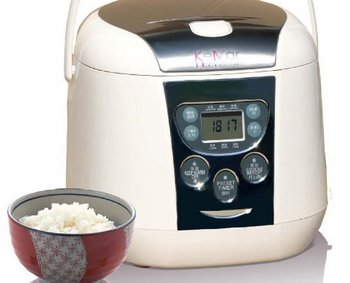 Luxury 3D Heating Rice Cooker In White With Bowl Rice