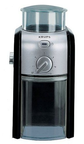 Burr Coffee Grinder In Black And Clear Plastic