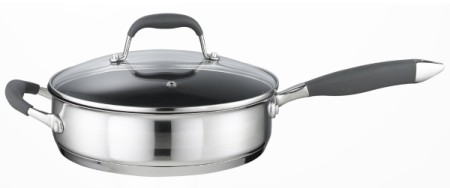 Steel Saute Pan With Opposite Handle