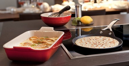 Le Creuset Oven Safe Durable Crepe Pan On Kitchen Surface