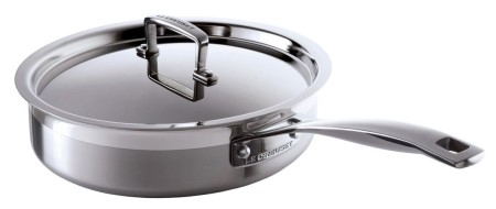 Stainless-Steel Cook Pan With Cover And Handle