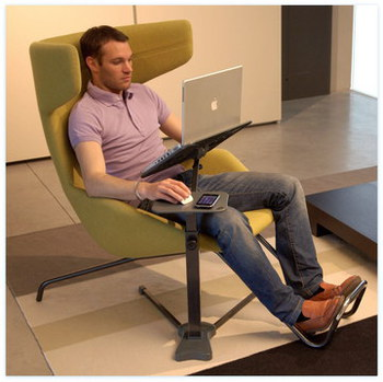 Exceptional Man On Sofa Using LoungeBook Laptop Desk