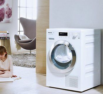 Miele TKG 440 WP Chrome Edition Tumble Dryer in Bright Home Setting