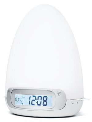 Multi Coloured Wake-Up Light In White Dome Shape