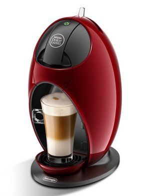 Coffee Machine In Black And Red Exterior
