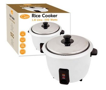 Quest Cook And Warm Rice Cooker In White With Steel Finish