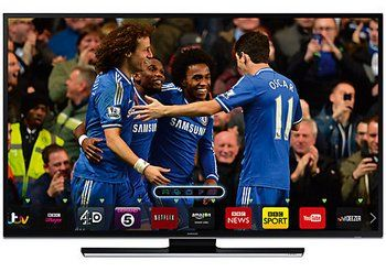 Samsung 40HU6900 40 Inch Smart TV Showing Chelsea FC Players and Colours