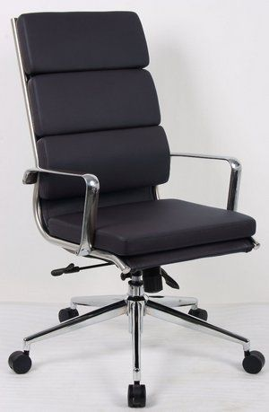 Savoy High-Back Style Pro Ergonomic Workplace Chair In Black With Chrome Aspects