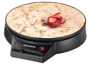 Severin Electric Crepe Maker Showing Heat Control