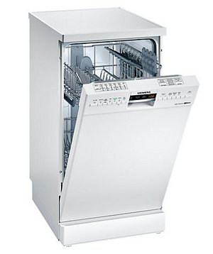 Siemens SR26M230GB Slimline Dishwasher In All White Finish