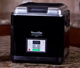 SousVide Oven Equipment In Black With Chrome Top