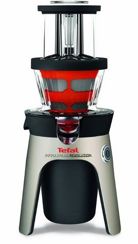 Screw Revolution Juicer In Black, Red And Clear Plastic