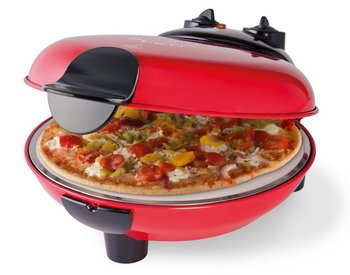 Authentic Comfort Cook Tasty Pizza Stone Oven In Black And Red