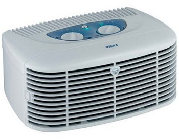 Washable HEPA Air Purifier In Light Blue Exterior
