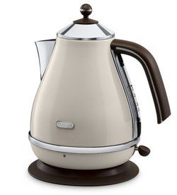 White and Silver Colour Vintage Icona Jug Kettle