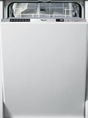 Whirlpool Slimline Integrated Dishwasher In Off White Exterior