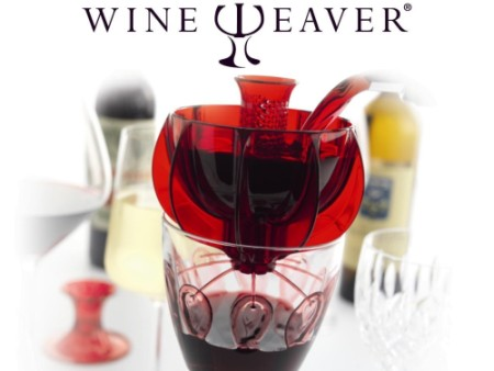 WineWeaver Decanter Red/Rose Wine Aerator With Red Glass