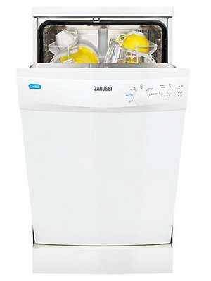 Zanussi ZDS12001W 5 Programmes Dishwasher In White Colour