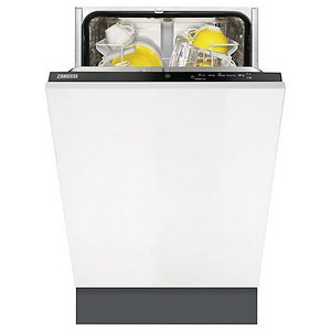Zanussi ZDV12002FA Eco-Wash Slimline Dishwasher With Plates