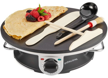 A.James 1200 Watts PTFE Electric Crepe Machine With Black Dial