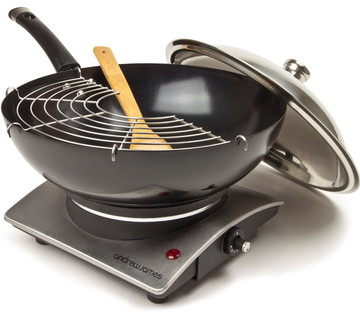 Premium Stir Electric Wok With Steel Lid