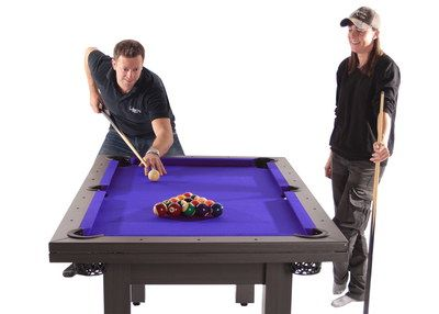 2 Piece Stylish Pool Table Dining Table In Black Ash