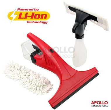 Vacuum Steam Glass Cleaner Squeegee In Red