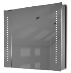 Astound LED Mirrored Medicine Cabinet On White Wall