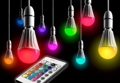 10W LED Colour Changing Bulbs In Several Colours