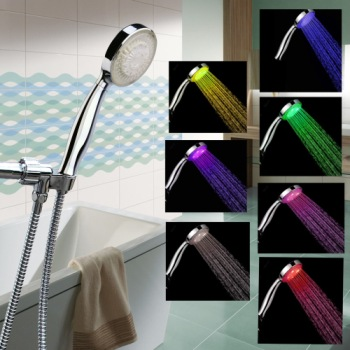 BSB LED Light Up Shower Head With Red, Blue, Green Colours