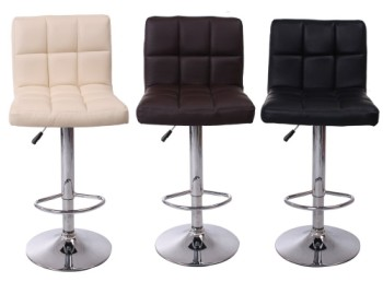 chrome breakfast bar stools in 3 colours
