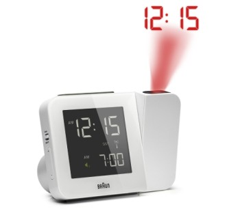 Braun Global RC Projection Alarm Clock In White Exterior
