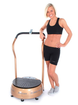 Power Vibration Plate In Gold Colour