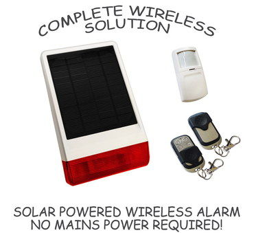 Wireless Driveway Security Alert In White And Red