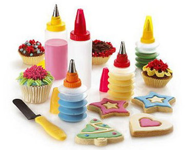 CostMad 11 Piece Cupcake Decorating Set With Chocolate Cakes