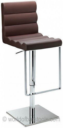 Attractive Counter Height Stool With Square Steel Foot-Rest