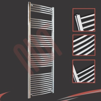 Curved Heated Electric Towel Rail In Chrome Plating