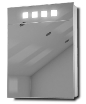 Deva Bathroom Medicine Cabinet With Mirror And 4 Square LEDs