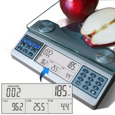Kitchen Scale With Glass Holder
