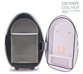 Egg Shaped Cold And Hot Function Mini Fridge With Open Door
