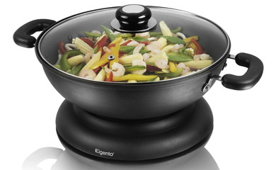 Electric Wok With Lid
