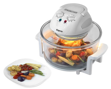 Halogen Oven With Plate Of Vegetables