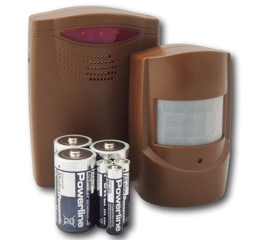 Wireless Driveway Security Alert In Brown With Batteries